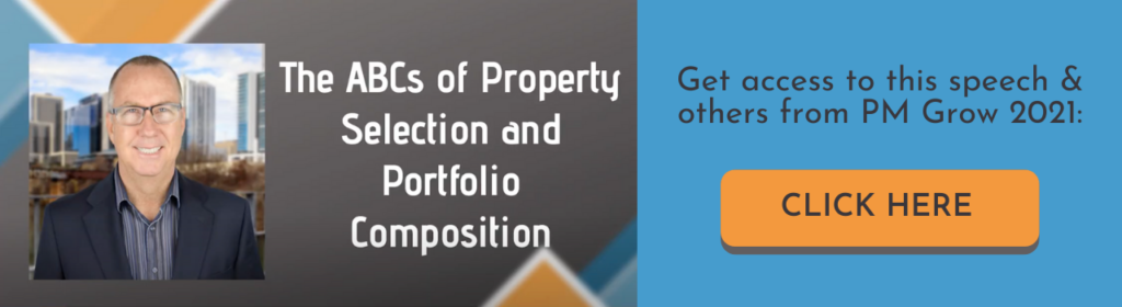 A banner ad that reads The ABCs of Property Selection and Portfolio Composition, Get access to this speech and others from PM Grow 2021, click here.